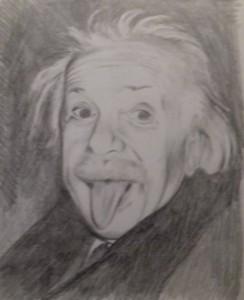 Péti zvětšený Einstein